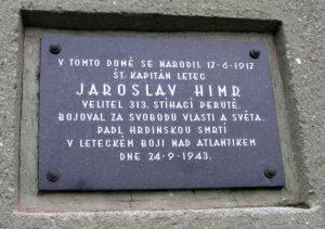 pamětní deska Jaroslava Himra