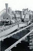 Olomouc, most přes Bystřičku 1945 nádraží