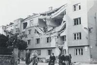 Olomouc, Hálkova/Fibichova ul. 1945