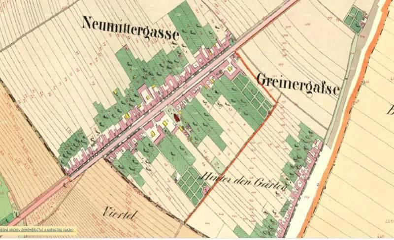 Nová Ulice v 2. polovině 19. století.