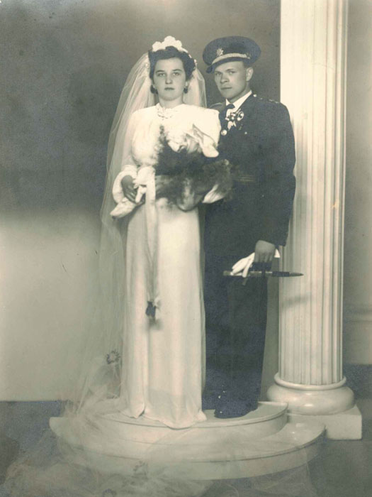 Svatební fotografie Josefa a Marie Bryksových.